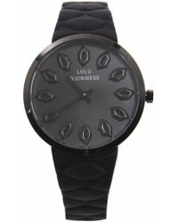 Lulu Guinness Quilted Lips Watch - Lyst