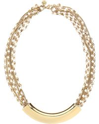 Lydell NYC - Crescent-Bar Multi-Chain Statement Necklace - Lyst