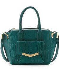 Time's Arrow   Jo Mini Serpentprint Tote Bag Emerald   Lyst