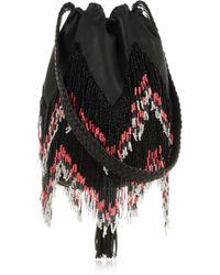 En Shalla - + Beaded Leather Shoulder Bag - Lyst