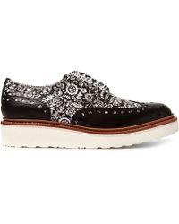 Foot The Coacher - Black Archie Liberty Print Shoe - Lyst