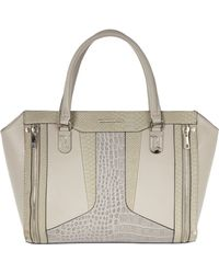 River Island Grey Contrast Textured Panel Tote Bag - Lyst