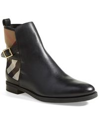 Burberry 'Richardson' Leather Boot - Lyst