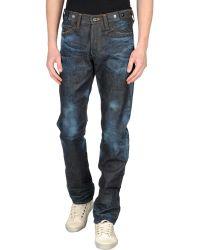 PRPS Denim Trousers blue - Lyst