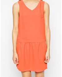 Color Block - Color Block Dress With Strappy Back - Lyst