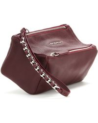 Givenchy Pandora Leather Pouch - Lyst