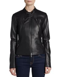 Bailey 44 Cropped Faux Leather Jacket - Lyst