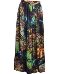 Klements - Grace Silk Maxi Skirt In Trash Print - Lyst