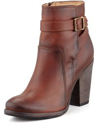 Frye Patty Riding Bootie Redwood - Lyst