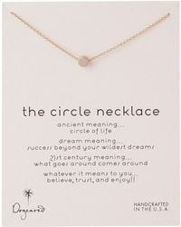 Dogeared Circle Necklace - Lyst