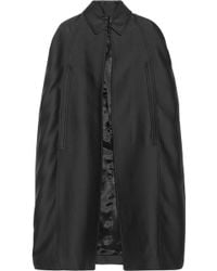 Burberry Prorsum Cotton and Silkblend Cape - Lyst