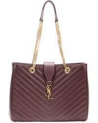 Saint Laurent Monogramme Matelasse Shopper Bag - Lyst