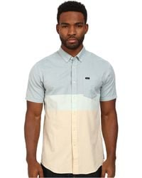 RVCA That'Ll Do Block S/S Woven - Lyst
