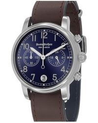 Brooks Brothers - 'red Fleece' Chronograph Leather Strap Watch - Lyst
