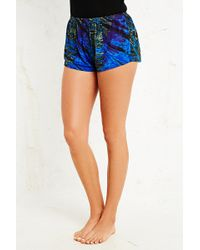 Urban Outfitters Tiedye Bed Shorts in Blue - Lyst