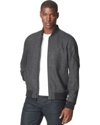 Calvin Klein Jeans Wool-Blend Baseball Bomber Jacket - Lyst