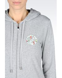 Armani Jeans - Full Zip Sweatshirt With Hood - Lyst