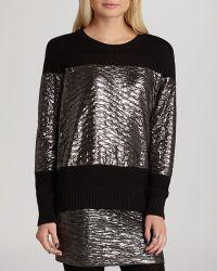 BCBGeneration Sweater - Metallic - Lyst