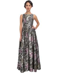 Adrianna Papell Sleeveless Jacquard Gown - Lyst