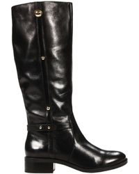 Armani Jeans Boots 4 Heel Leather - Lyst