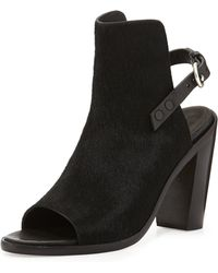 Rag & Bone Wyatt Calf Hair Peep-toe Bootie - Lyst