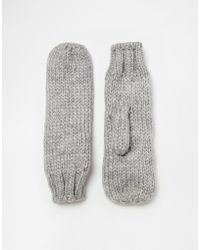 Pieces - Mittens - Lyst