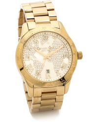 Michael Kors Global Glam Layton Watch Gold - Lyst