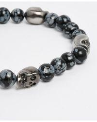 Simon Carter - Antiquated Skull Beaded Bracelet - Lyst