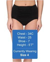 Seafolly Goddess High Waisted Pants black - Lyst