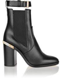 Cut Cost Reed Krakoff Ankle Boots Leather Black Gold trimmed