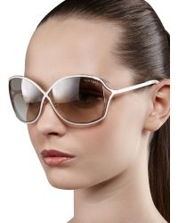 Tom Ford Rickie Round Open-temple Sunglasses - Lyst