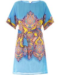Collette By Collette Dinnigan Hippieprint Silk Dress - Lyst