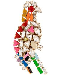 Shourouk - Parrot Crystal Brooch - Lyst