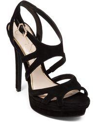 Jessica Simpson Presslie Suede High-Heel Sandals - Lyst