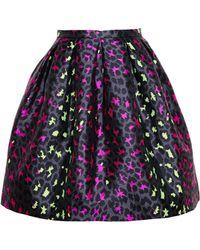 Christopher Kane Silk Leopard Jacquard Skirt - Lyst