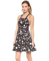 Elle Sasson - Nelson Dress Black 70s Floral - Lyst