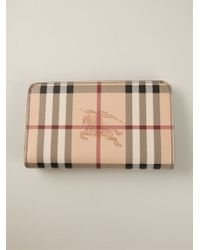Burberry Haymarket Check Wallet - Lyst