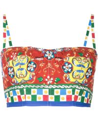 Dolce & Gabbana | Carretto Bustier Top | Lyst