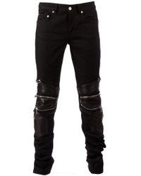 Saint Laurent Biker Style Jeans - Lyst