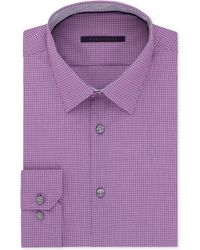 Elie Tahari Purple Check Dress Shirt - Lyst