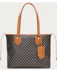 Bally Bernina Small Women's Small Coated Canvas Tote Bag In Light Fawn - Brown