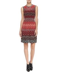 M Missoni Degrade Sleeveless Rippleknit Dress - Lyst