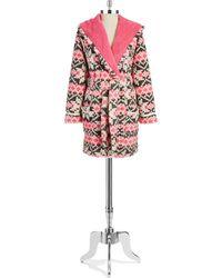 Kensie Pink Patterned Robe - Lyst