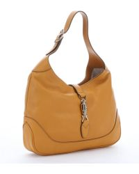 Gucci Mustard Leather 'Jackie' Shoulder Bag - Lyst