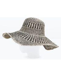 Zara Two-Tone Wide Brim Hat black - Lyst