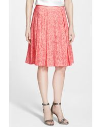 Vince Camuto Pleated A-Line Skirt - Lyst
