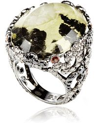 Bochic - Moss Agate Ring Diamond and Sapphire Ring - Lyst