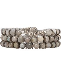 Velvet By Graham & Spencer - Velvet X Renee Sheppard Serpent Bracelet in Gray - Lyst