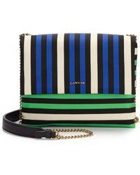 Lanvin | Sugar Mini Striped Nylon Crossbody Bag | Lyst