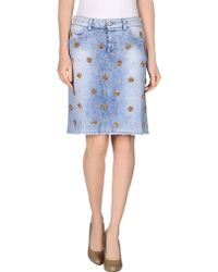 Gucci Denim Skirt blue - Lyst